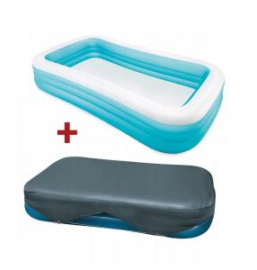 Intex Basen dmuchany Swim Center 58484NP + pokrowiec