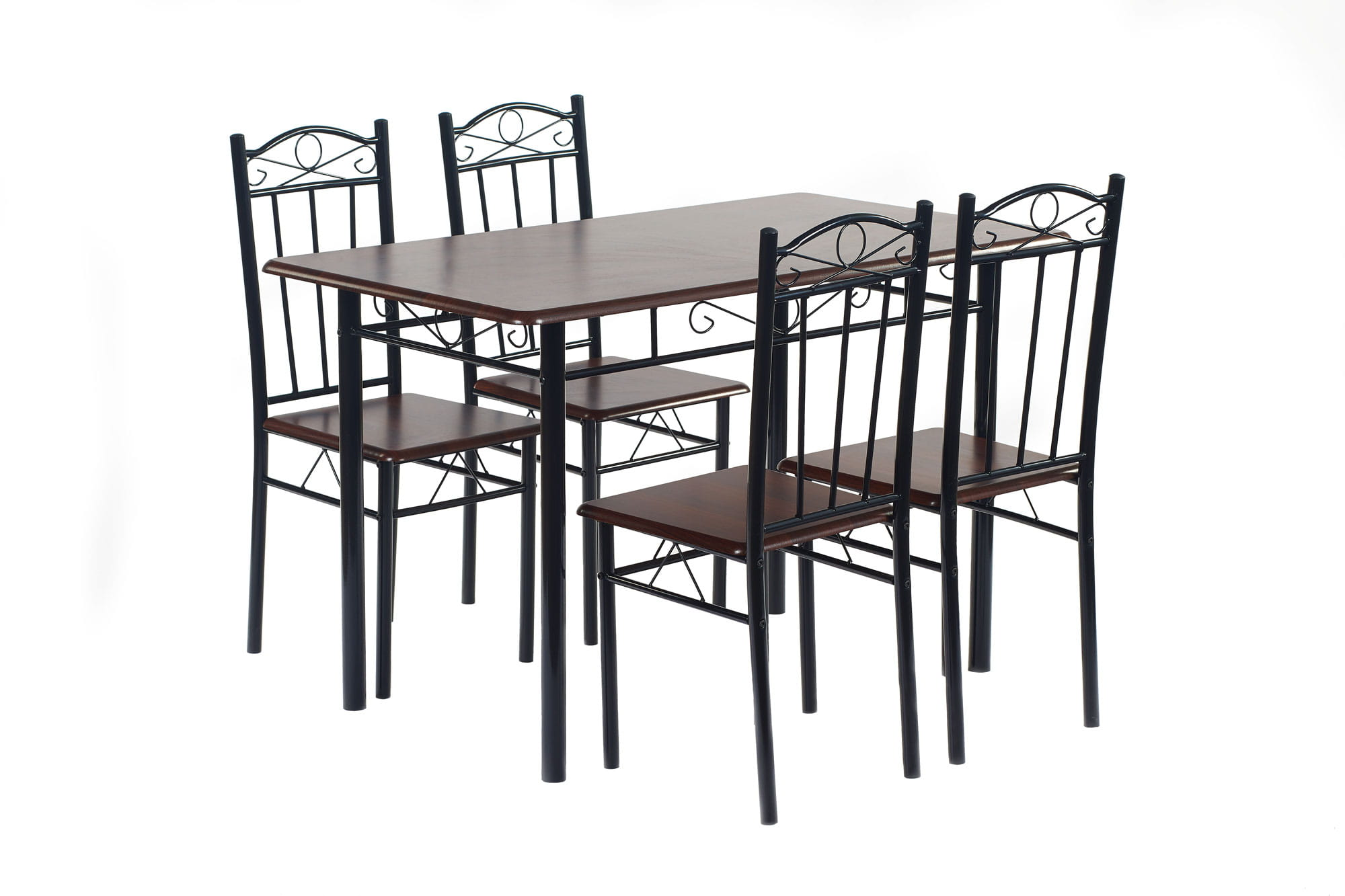 Zestaw Kuchenny Do Jadalni Stół 120cm 4 Krzesła Fitness Home